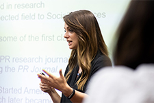 USF professor, Kristin Miller, discussing communication skills